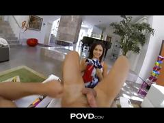 Adorable ariana marie fucking hard in pov
