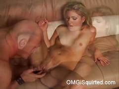 Aubrey adams squirting on fingers and huge dick