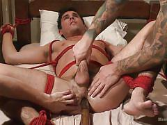 Sucked, jerked and ass fucked by another man