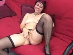 Nice brown haired girl masturbate