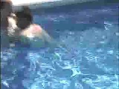 Cora fucking in the pool