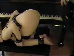 Piano lesson spanking