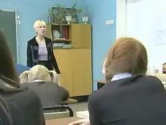 Russian readhead lesbian teacher