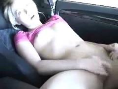Fingering in the car