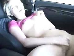 Fingering in the car