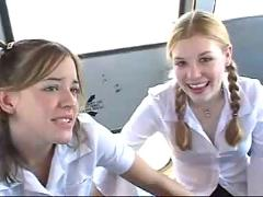 School bus girls