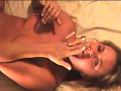 Slut films herself getting cummed on by differet guys