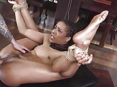 anal, bdsm, black, babe, interracial, domination, mouth fuck, collar, rope bondage, sex and submission, kink, tommy pistol, kira noir