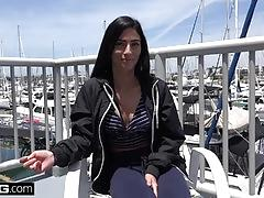 Teen cheating girlfriend jasmine vega fucks in public
