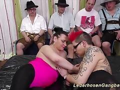 Chubby slippery nuru gangbang sex orgy