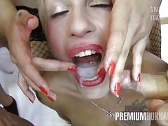 Silvana swallows 49 huge mouthful cumshots