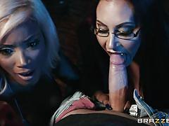 Strippers share a cock