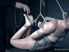 Rough bdsm session with eden sin
