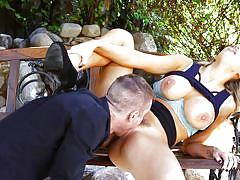 blonde, big tits, babe, outdoor, pussy licking, hairy pussy, boobs groping, devils film, fame digital, ryan mclane, kenzie taylor
