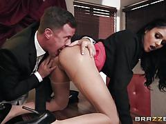 Rough anal on the office table