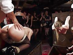 Hot babes getting fucked on a kinky party