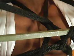 gays, bound, rope bondage, masked, bdsm, handjob, anal insertion, domination, tied up, whipped, speculum, bound gods, kink men, pierce paris, draven navarro