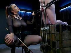 milf, bdsm, big tits, redhead, high heels, whipping, dominatrix, cock torture, device bondage, female domination, divine bitches, kink, bella rossi, dozer