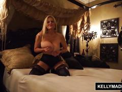 Kelly madison - black lingerie fucking and facial