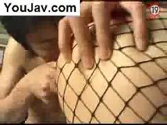 Hardcore asian fucking in fish net