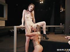 Lesbian sex party begins!