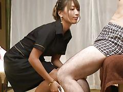 Beautiful japanese maid will please you