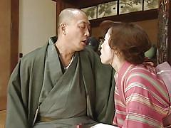 Contemporary japanese couple make love on the floor
