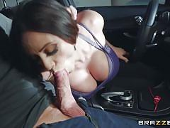 Latina milf tugs his pecker