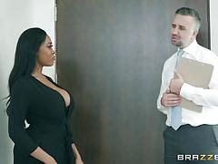 Big black boobs and dick sucking lips