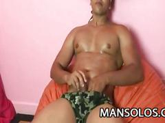 Yago ribeiro rubs his massive cock