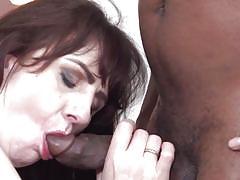 Mature lady takes a big black cock