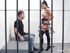 milf, latex, big tits, prison, big cock, blowjob, brunette, reverse cowgirl, position 69, porn stars like it big, brazzers, audrey bitoni, jessy jones