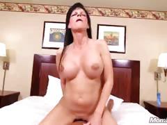 Big boobs waitress milf fucks cock pov
