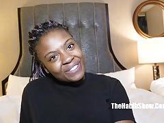 Sexy newbie ebony drilled