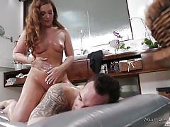 Fucking and a massage