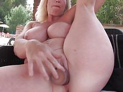 chubby, blonde, big ass, big tits, solo, masturbation, piercing, dildo, fingering, tit groping, mature nl, melody charm