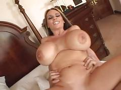 Blond milf with giant boobs fucked