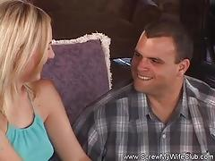 Sweet housewife screws another man
