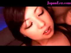 Asian japana lesbian butt kissing toy play