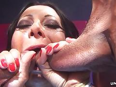 Horny sandra romain can take in her bubble butt