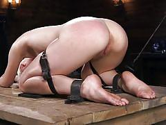 blonde, bondage, bdsm, babe, ball gag, riding crop, electric vibrator, device bondage, kink, chloe cherry