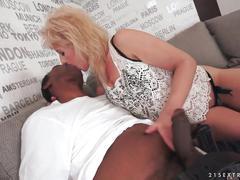 Lusty grandma vs old black cock