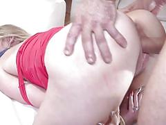 Sweet babe with shaved pussy getting her ass whipped