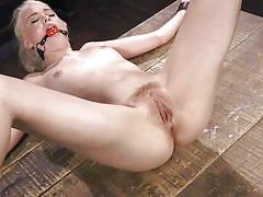 Blonde chloe cherry getting her twat teased