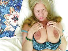 Bbw blonde lily playing with her cunt