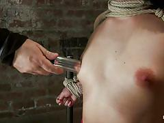 small tits, milf, bondage, bdsm, nylon, deepthroat, punishment, domination, blowjob, piercing, tatoo, vibrator, blindfolded, brunette, moaning, tied up, hard dick, ropes, suffocation, duct tape