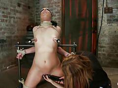 small tits, milf, bondage, bdsm, nylon, deepthroat, punishment, domination, blowjob, piercing, tatoo, vibrator, blindfolded, brunette, moaning, tied up, hard dick, ropes, suffocation, duct tape