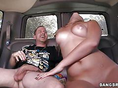 small tits, milf, tattoo, blonde, handjob, big ass, money talks, blowjob, undressing, car sex, pussy fingering, hard dick, addison grey, bang bus, bang bros