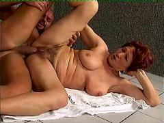 Horny old womens in action