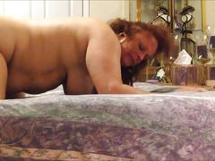 Bbw amateur spreads her legs gets anal